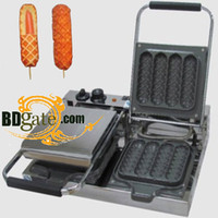 Wholesale 2 Plate v Electric Waffle Lolly Maker Machine Baker