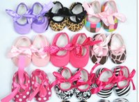 Wholesale mix color Baby Boys Girls soft cotton Babies Non slip toddler shoes bow Shoes Leopard Printed baby toddler shoes