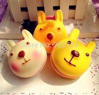 Wholesale 18pcs SP104 Simulation Squishy Rabbit Bread Mirror Fit Phone Chain Strips Cute Makeup Mirror