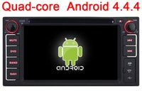 Wholesale Camry Dash - New Quad Core Android 4.4 Car DVD GPS for Toyota Universal Fortuner RAV4 Hilux Vios Camry Prado Corolla Land Cruiser Radio Stereo Wifi 3G