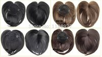 Wholesale Clip in on synthetic top closure hair fringe head skin hair bang hairpieces wiglet colours available Crown bangs