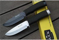 knife blades - Black BUCK hunting knife fixed blade Straight knife Camping Knife Survival Knife knives Black blade New in Original box