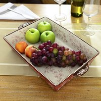 american ceramic supply - High quality american style home decoration hereupon supplies kitchen ceramic pan fruit plate dish