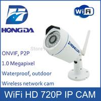 Revisiones Mini cámaras wi fi-Hongda Wi Fi cámara de seguridad IP de mini al aire libre HD 720P lente 3.6mm leva red wirless visión nocturna 25M P2P ONVIF Detección de movimiento