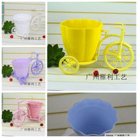 basket for bike - Tricycle Bike Flower Basket For Wedding Event Flowers Holder Wedding Supplies New Fashion Flower Basket Storage Container Party Wedding Bask