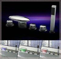 bath tub filler - New Arrival Golden Colorful LED Light Tub Faucet Bath Filler lamp