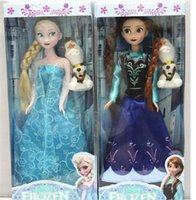 Wholesale New Arrival inch Frozen Musical Doll Anna and Princess Elsa with Olaf with music quot let it go quot Best Music Toys For kids baby girls