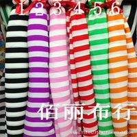 Wholesale South Korea velvet black and white and white purple powder white white green white orange stripe thick snow spins
