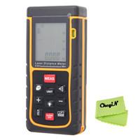 Wholesale 80m Laser Rangefinder Digital Laser Distance Meter Range Finder Bubble Level Scope Tape Measure Built In Volume CJY03 order lt no track