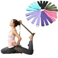 Wholesale 2015 New Multi Colors Yoga Belts Stretch Strap D Ring Belt Waist Leg Fitness Exercise Gym Rope cm Adjustable