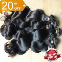 Wholesale 100 Brazilian Human Hair Weave inch Double Weft Extensions Remy Unprocessed Virgin Hair Body Wave g pc Off Wavy