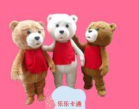 bear ted costume - Hottest Teddy Bear Mascot Costume of TED Adult Size Halloween Cartoon Mascot Costume Chrismas Fancy Dress