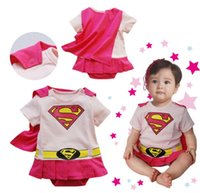 Wholesale Baby One Piece baby Rompers boys girls Superman style Romper pink Super Man Rompers Batman Clothes and short sleeved designs