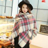 2015 mujeres de la moda de la tela escocesa de la bufanda bufanda caliente Manta invierno suave de gran tamaño las mujeres de la bufanda del tartán de la bufanda del mantón 10pcs DHL