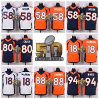 Wholesale MANNING Football Jerseys with Super Bowl Patches Orange Football Jerseys Stitched Football Uniform for Men Big Clearance Sale