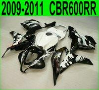 body kit - 7 gifts ABS fairings for Honda Injection molding CBR600RR black white fairing body kit CBR RR YR9