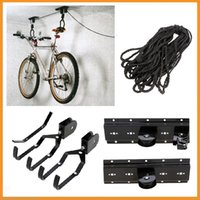 bicycle lift storage - Bicycle Lift Ceiling Mounted Hoist Storage Garage Hanger Pulley Rack Bike Wall Hanging Rack Bicycle Wall Hook Display Stand Rack