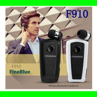 blue tooth - Bluetooth Wireless Fone De Ouvido Earphone For iPhone S Samsung HTC Fineblue F910 V3 Retractable Blue Tooth Headset