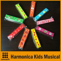 Wholesale Woodwind Instruments Holes Tremolo Harmonica Kids Musical Instrument Educational Musical Toy Colors New