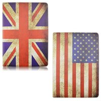 american dust covers - 360 Degree Rotating Leather Stand Case For Apple iPad Mini Smart Flip Cover For iPad Mini4 quot Vintage British American Flag