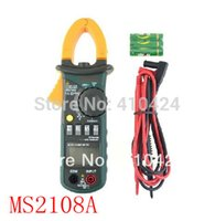 Cheap Mastech MS2108A 4000 AC DC Current Clamp Meter backlight Frq Cap CATIII vs FLUKE hol