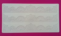Wholesale 1Pcs CT403 Three New Lace Soft Platinum Silicone Cake Fondant Embossing Gum Paste Decorating Tools