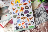 animal kingdom stickers - The Animal Kingdom Paper Stickers Decoration Label Multifunction Funny Gift