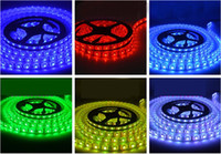 Wholesale 5m m LED IP65 waterproof V SMD flexible light cold white warm white red blue green yellow RGB LED strip LED m