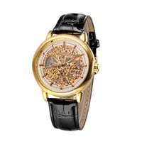 awesome pins - WINNER Brand Awesome Hand winding Mechanical Watch Men Fashion Luxury Leather Strap Business Wristwatch Relogios Masculino