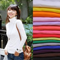 blouse free size - Winter New Fashion Plus Size Women Clothing Blouses Basic Sexy Tops Shirts Turtleneck Long sleeve Solid Bottoming Shirt Tops SV009340