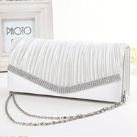 Wholesale New Fashion Bridal Hand Bags Wedding Accessories Evening Prom Party Hand Bag High Quality Silk Beaded Gorgeous Purse
