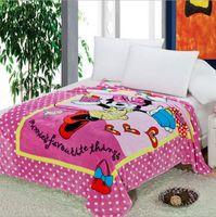 Wholesale 2015 minions blanket color thomas mickey car blankets sofia Doraemon princess pooh bedding sheet kid spiderman blankets TOPB3164