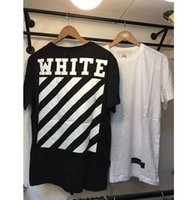 Wholesale men t shirt fashion brand men off white Virgil Abloh kanye west stripe13 pyrex t shirt cotton t shirt short sleeve t shirt
