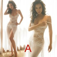 Wholesale Beautiful Fashion Lady Lace Long Dress Nightwear Sleepwear Babydoll Lingerie