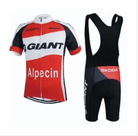 Wholesale 2015 red Giant bicycle riding dress shirt shirt and shorts biking Jersey Ciclismo suite summer cycling clothing