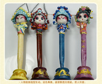 Wholesale Brocade clay Facebook pen China features gifts for friends of Peking Opera facial makeup characteristics of small craft