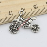 antique motorbike - 15pcs Antique Silver Round Motorbike Charms Pendants for Jewelry Making DIY Handmade Craft x23mm D103 Jewelry making DIY