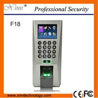 Wholesale ZK TCP IP fingerprint door access control system standalone fingerprint and RFID card time attendance and door control terminal F18