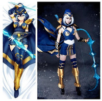 Wholesale Ashe LOL league of legends Ashe Iceshooter cannon jinx cosplay costume custom made Adult Kids Children