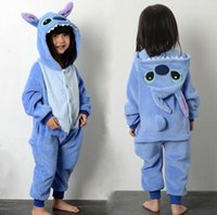 free japanese girl - Stitch Child Kigurumi Boy Girl Pajamas Animal Suit Cosplay Outfit Christmas Costume Kid Cartoon Jumpsuits Baby Animal Sleepwear
