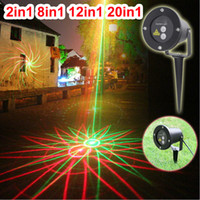Wholesale Remote Controller in1 in1 in1 in1 Outdoor Waterproof Garden Lights Firefly Laser Stage Light Lighting Green Red show Projector