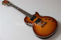 Wholesale OEM Deluxe electric guitar frets custom signature abalone inlay active pickups guitars