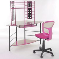 Wholesale Home Office Furniture Computer Chair Ergonomically Mesh Fabric Pads Color PINK