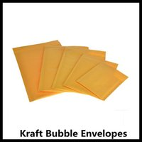 Wholesale 500Pcs Yellow Kraft Bubble Padded Mailers Envelope Bags Self Seal Bags Outer Size mm by DHL Free