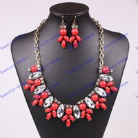antique red bead necklace - New Arrival Fashion Jewelry Set Antique Gold Plated Resin Beads Colors New Design Party Gift