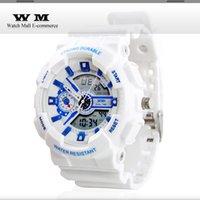 5pcs / lot Multi-fonction résistant à l'eau montres de mode de sport analogique-numérique affichage montre-bracelet retour lumière montre numérique WS0027X