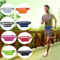 Wholesale Unisex Running Bum Bag Travel Handy Hiking Sport Fanny waistpacks Belt Zip Pouch Waterproof Nylon Travel Hiking Cycling bag Size CM