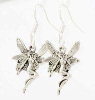 angels earrings - New x14 mm Antique Silver Cute Flying Angel Earrings Silver Fish Ear Hook Chandelier E195