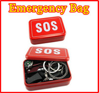 camping equipment - NEW Emergency Outdoor gear equipment emergency bag Portable field survival Kit box self help SOS Gadgets for fishing tackle Camping Hiking