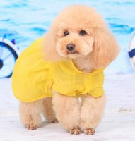 air outerwears - Puppy Pet Small Dog summer Sweet yellow Sunscreen veil Clothes dog Eleven air condition apparel pet costume
